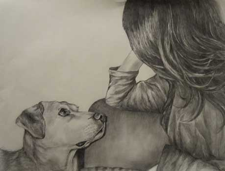 Jo and Gunner Drawing
