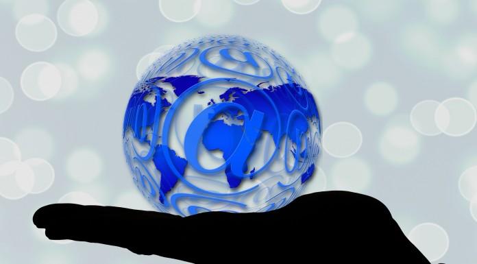 Email Globe Hand
