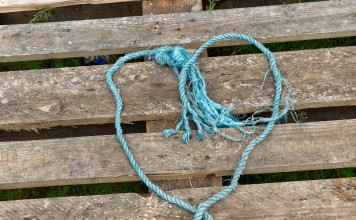 Pallet with Heart String